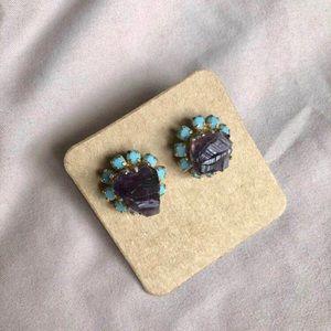 Jewelry - 🎁 Natural Raw Amethyst Statement Studs